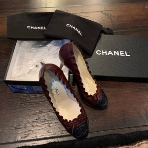 Chanel Ladies Two Tone Pumps